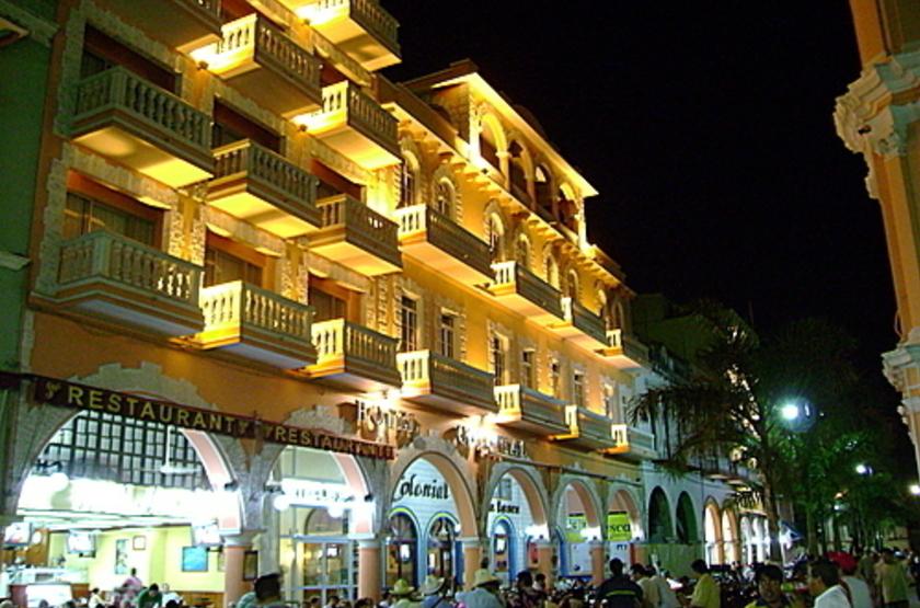 Veracruz zocalo.vue de l h tel de nuit slideshow