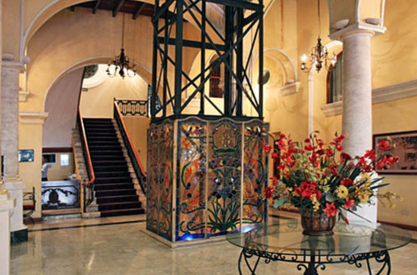 Hôtel Colonial de Puebla, Mexique, intérieur