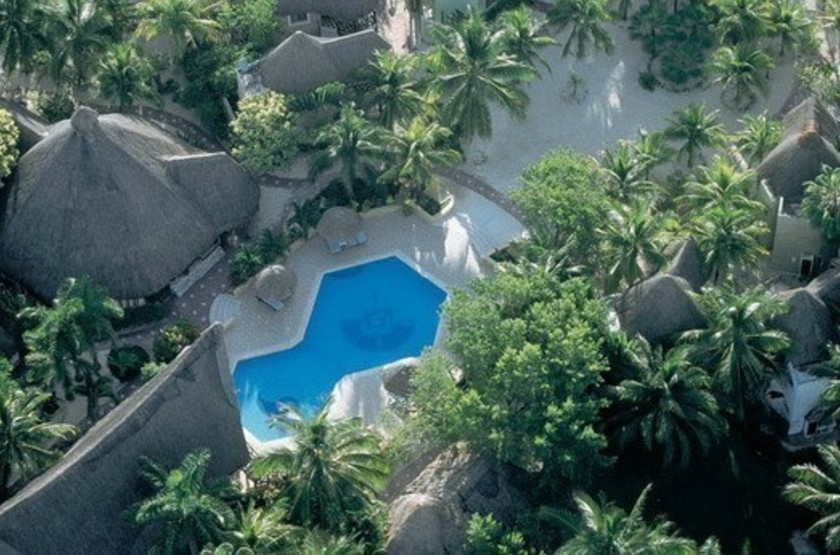 Shangri La Caribe Resort, Playa del Carmen, Mexique, vue aérienne