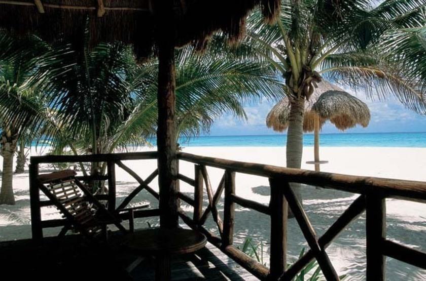 Shangri La Caribe Resort, Playa del Carmen, Mexique, terrasse vue mer