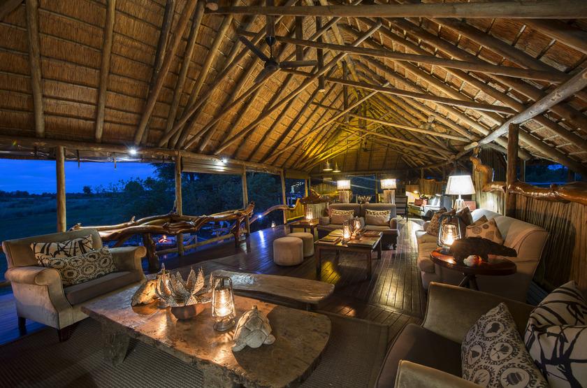Chitabe Camp, delta de l'Okavango, Botswana, dinning room