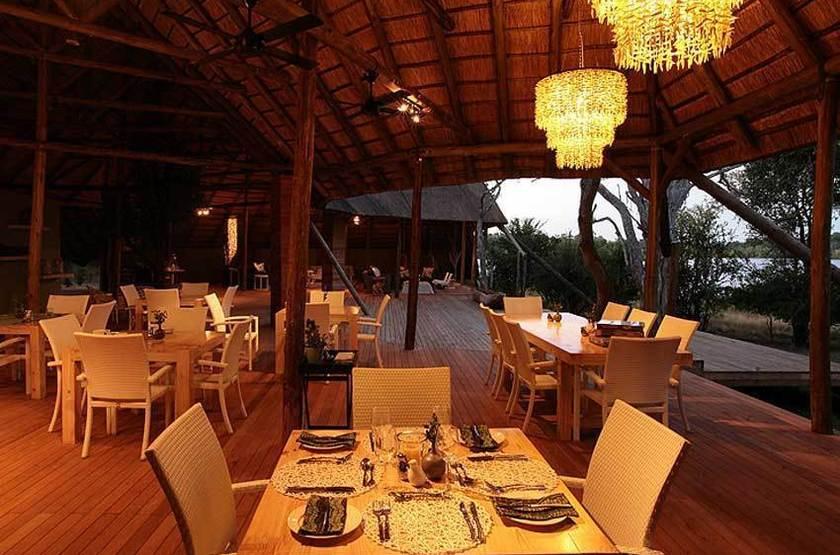 Zambezi Crescent River Lodge, Victoria Falls, dinning room