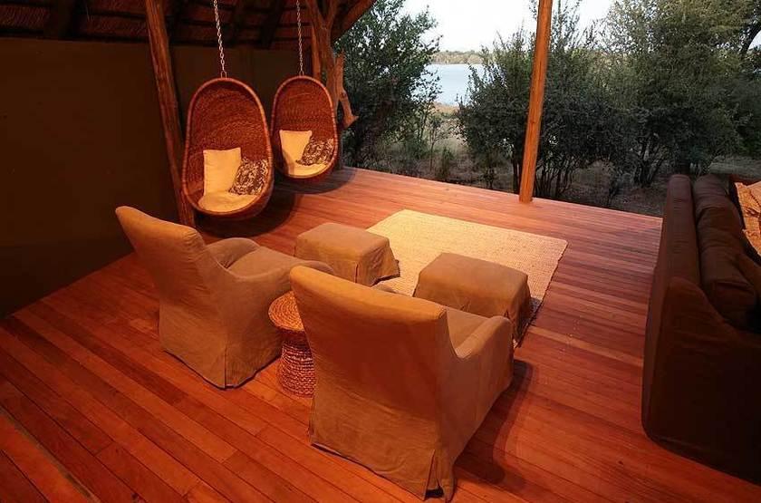 Zambezi Crescent River Lodge, Victoria Falls, terrasse
