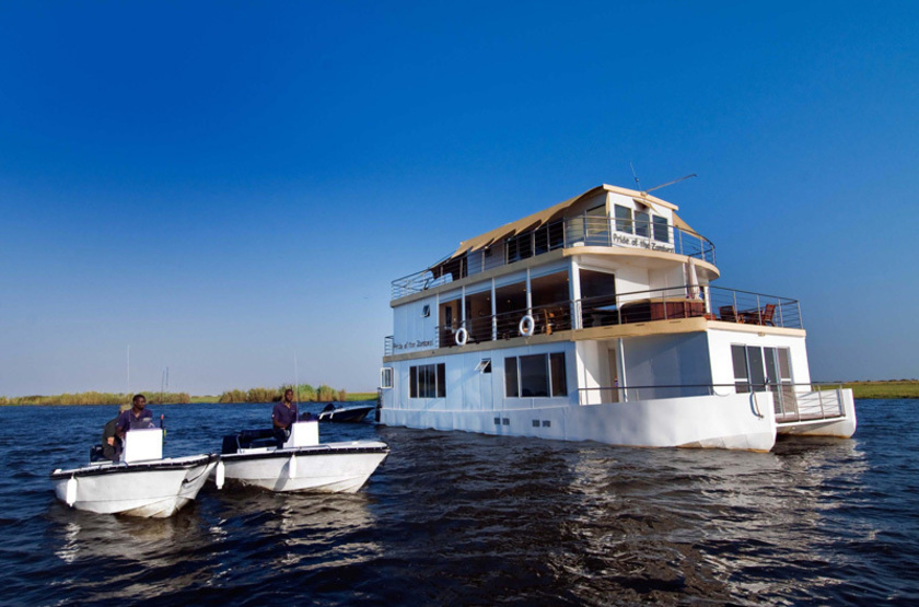 Pride of zambezi  houseboat et bateau de safari slideshow