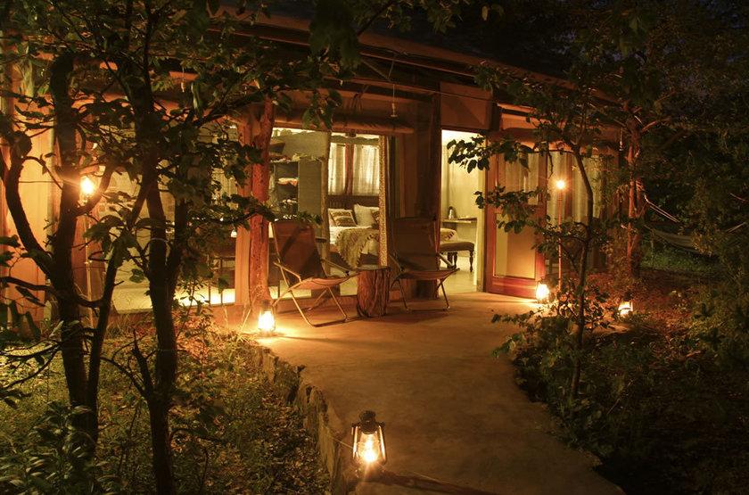 Changa outside room at night slideshow