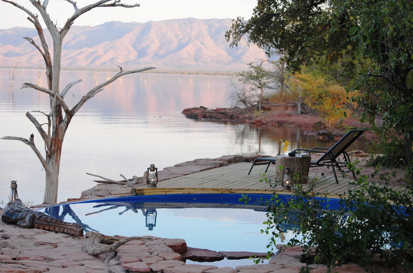 Changa Safari Camp, Matusadona, Zimbabwe, piscine