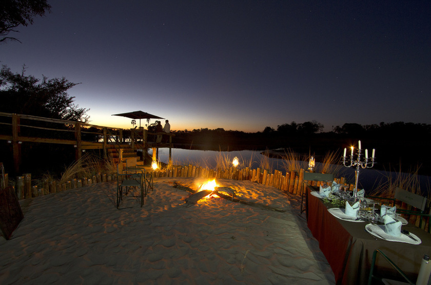 Little Tubu, concession de Jao, Okavango, Botswana, dinning room