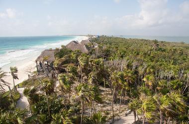 Cesiak eco lodge     tulum   mexique  vue a rienne listing