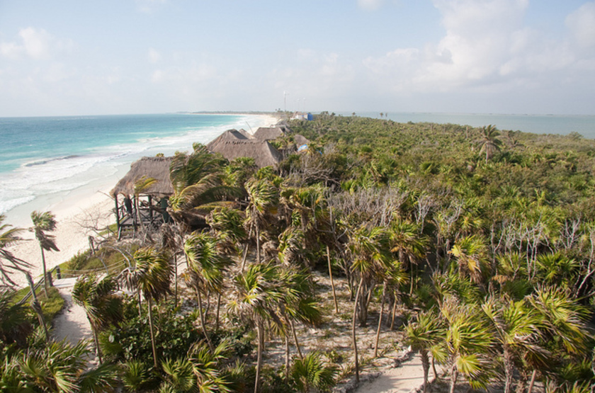 Cesiak eco lodge     tulum   mexique  vue a rienne slideshow