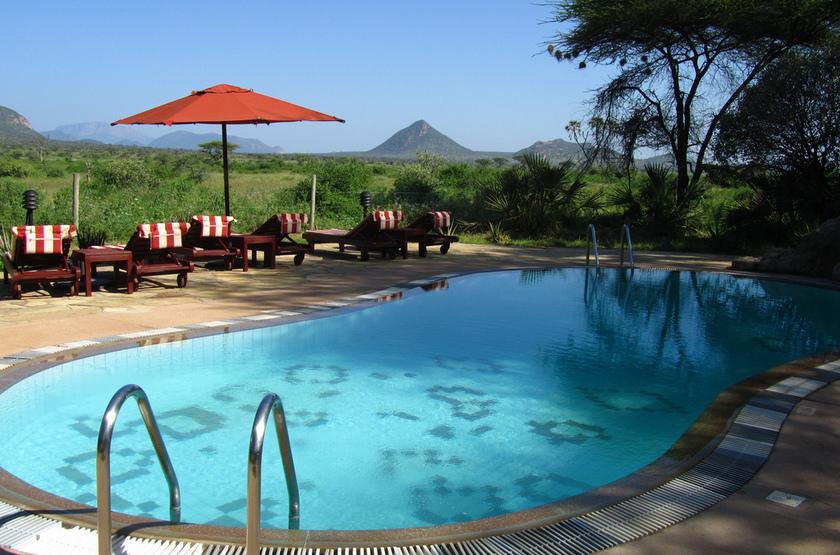 Larsens Camp, Samburu, Kenya, piscine