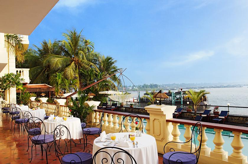 Vietnam   victoria chaudoc bassac restaurant terrace slideshow