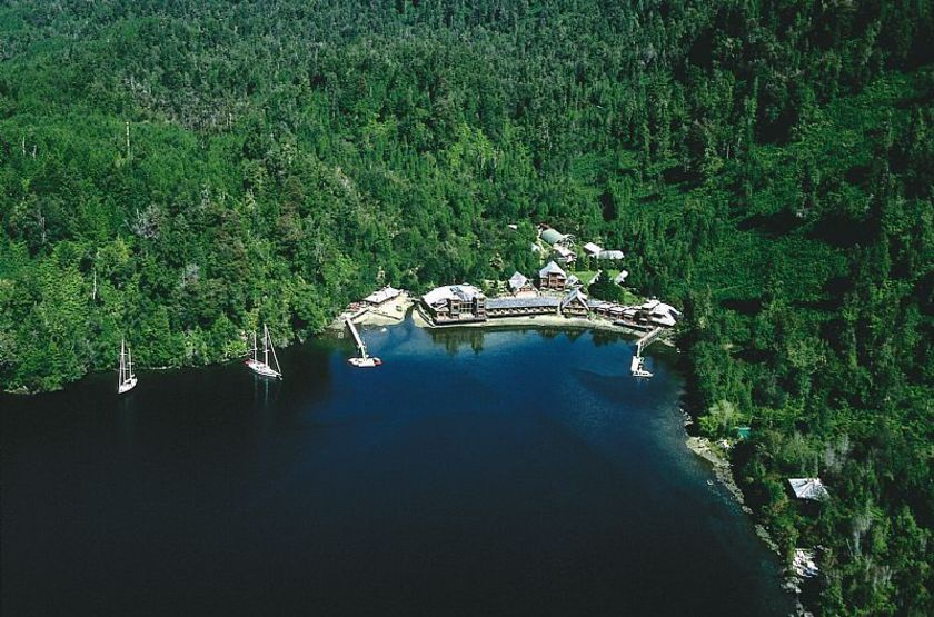 Puyuhuapi Lodge & Spa, Patagonie, Chili, vue aérienne