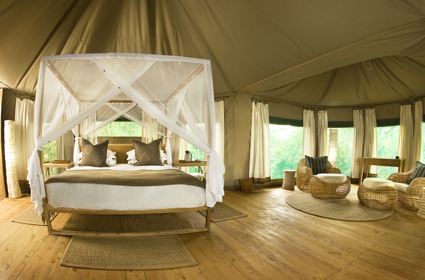 Chindeni Camp, South Luangwa, Zambie, tente