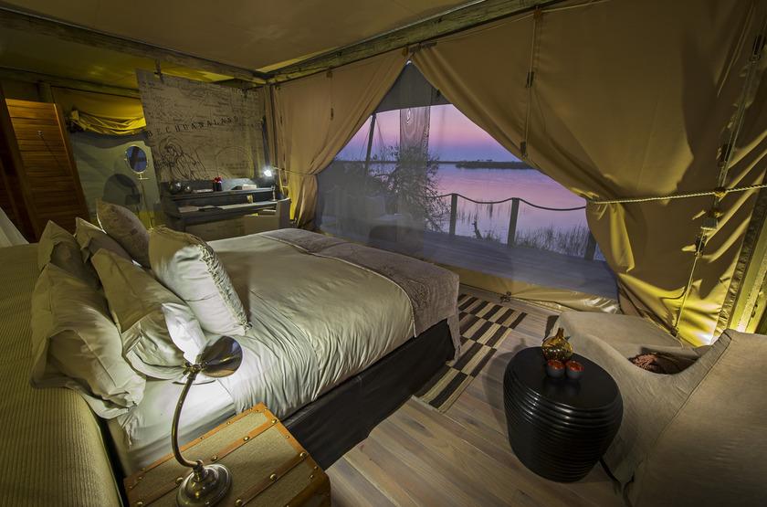 Duma Tau Camp, rivière de Savuti, Botswana, intérieur