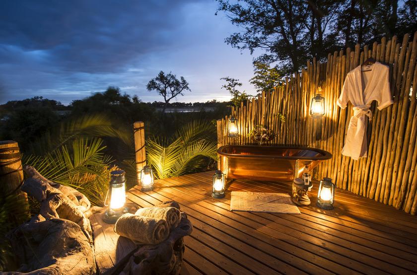 Jacana Camp, delta de l'Okavango, Botswana, salle de bains
