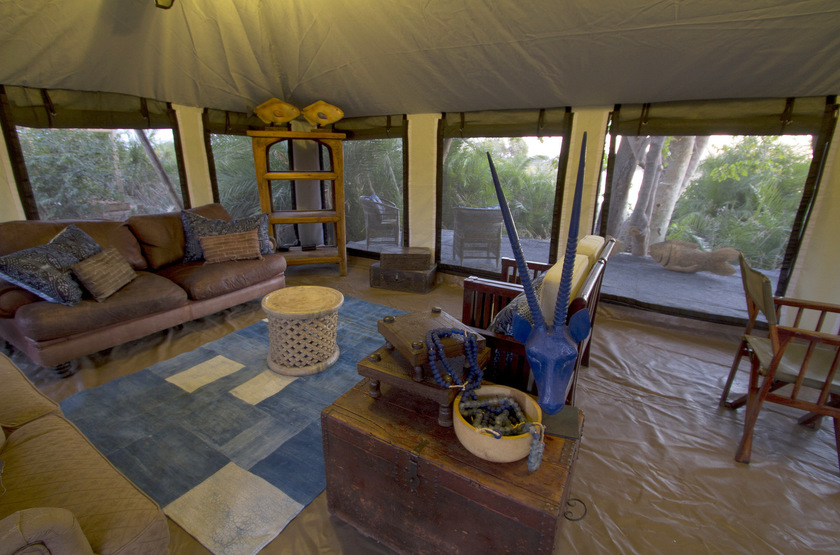 Pelo Camp, Jao concession, Okavango, Botswana, salon