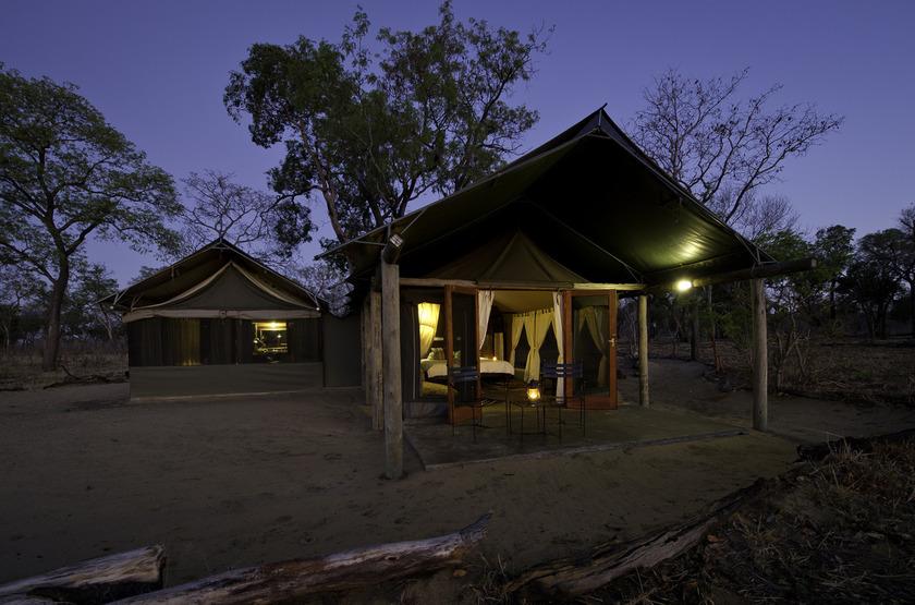Davison's Camp, Parc Hwange, Zimbabwe, tente extérieur