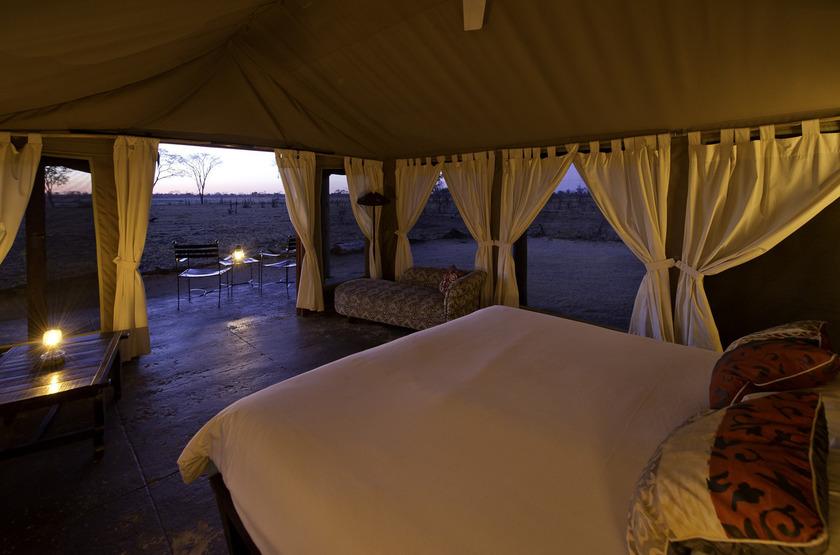Davison's Camp, Parc Hwange, Zimbabwe, intérieur tente