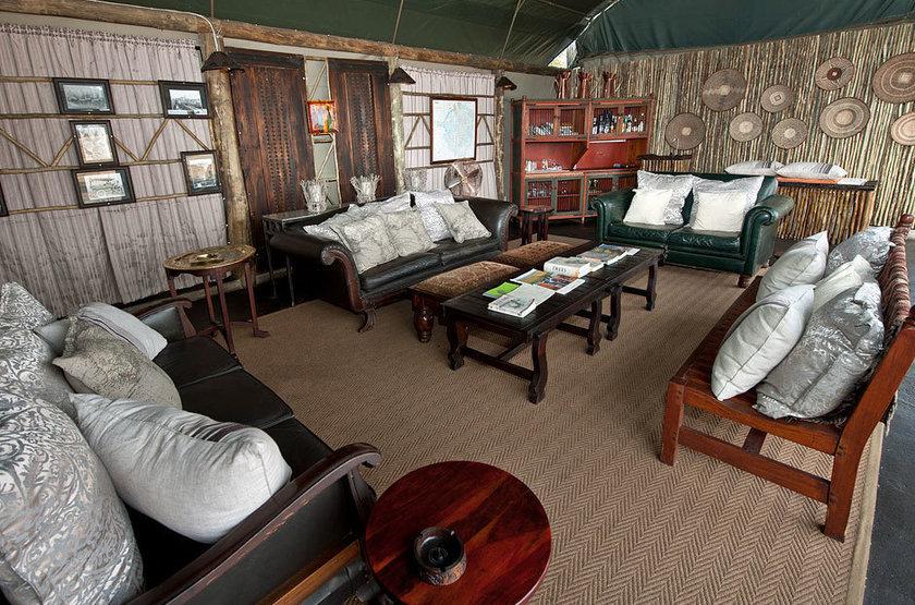 Davison's Camp, Parc Hwange, Zimbabwe, salon