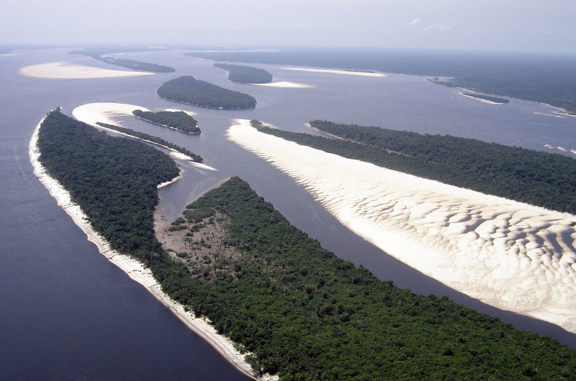 Anavilhanas Jungle Lodge, Brésil, vue aérienne