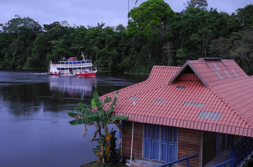 Uacari Lodge, Mamiraua, Brésil, excursion en bateau