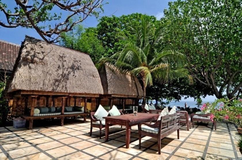 Taman Selini Beach Bungalows, Pemuteran, Bali, Indonésie, terrasse