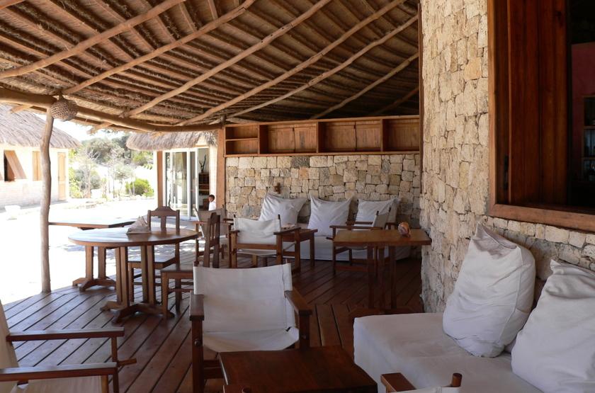 Anakao Ocean Lodge, Madagascar, terrasse