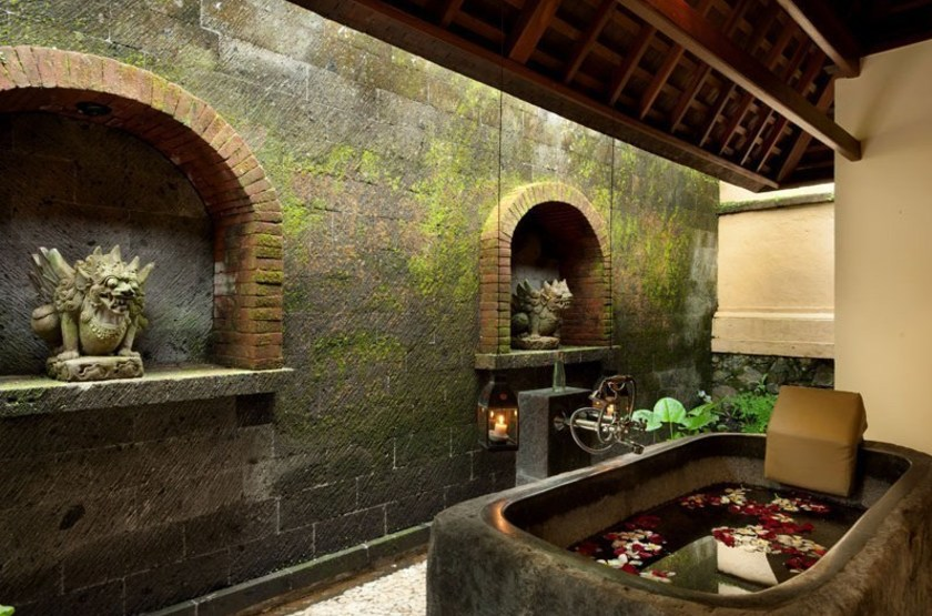 Komaneka at Tanggayuda, Ubud, Bali, Indonésie, salle de bain