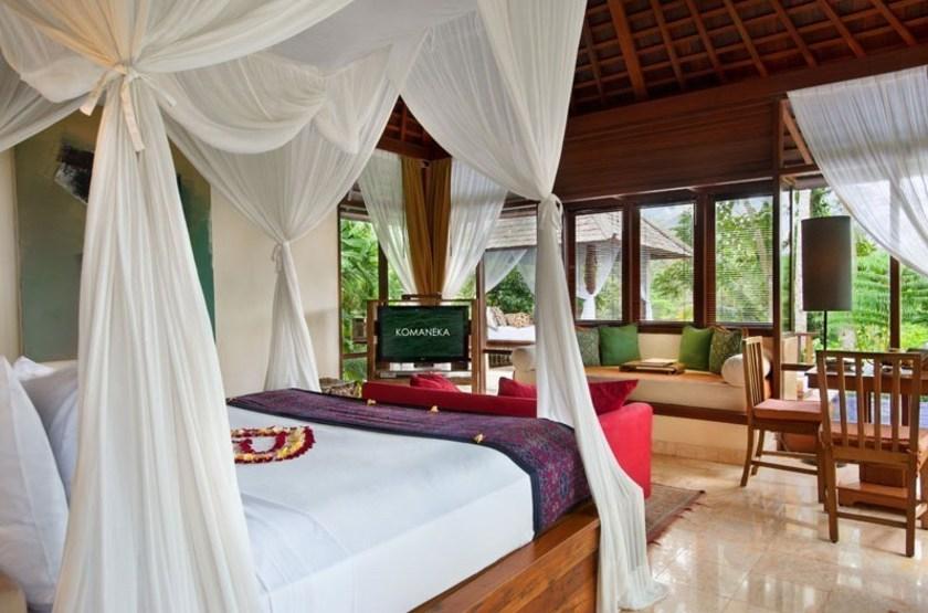 Komaneka at Tanggayuda, Ubud, Bali, Indonésie, chambre pool villa