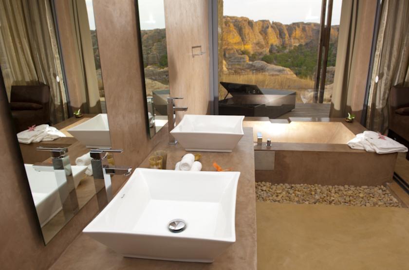 Isalo Rock, Madagascar, salle de bains
