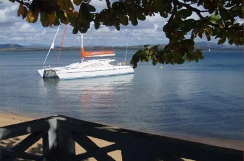 La Baie d'Iharana, Vohemar, Madagascar, terrasse vue océan