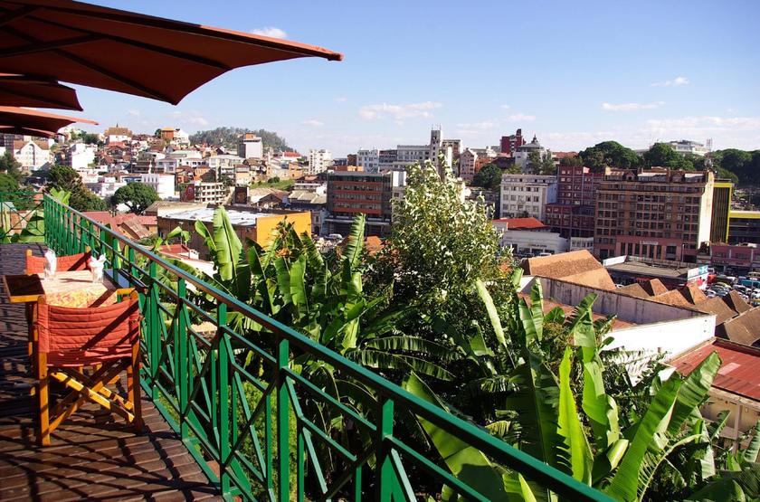Royal Palissandre, Antananarivo, Madagascar, terrasse