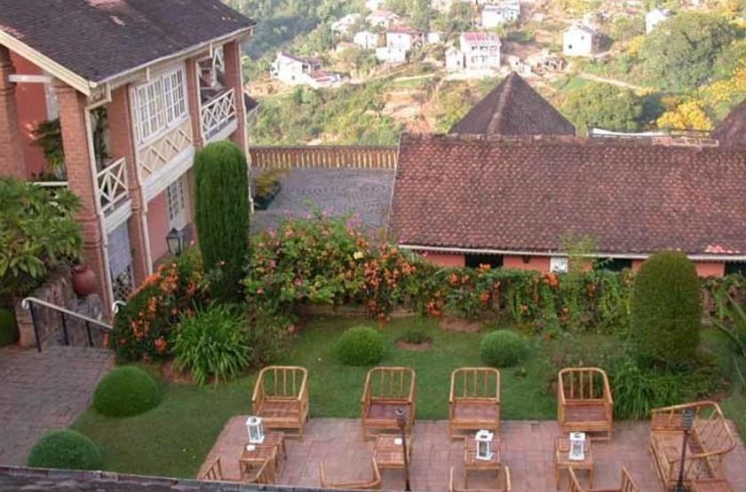 Tsara Guest House, Fianarantsoa, Madagascar, terrasse intérieure