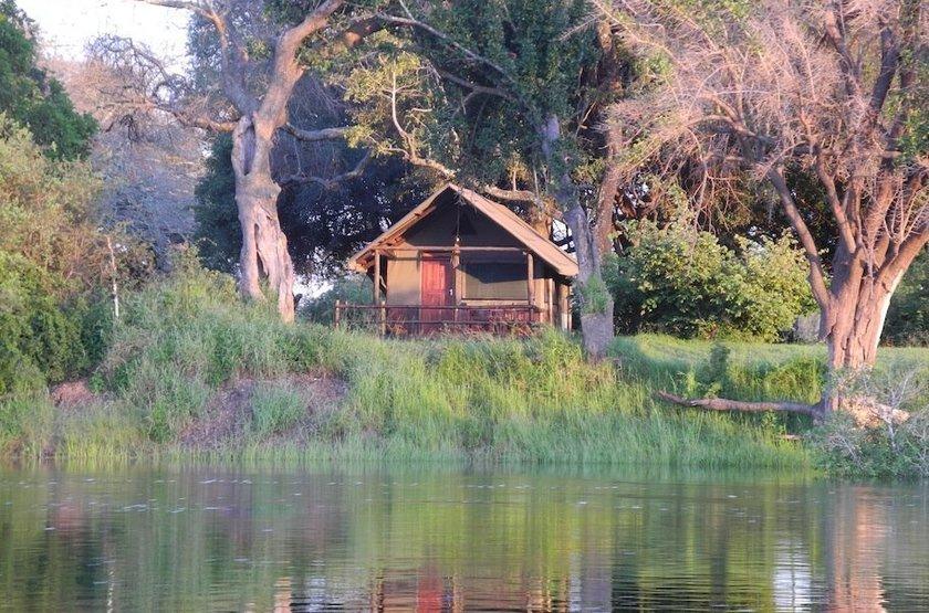 Chundu Island, Parc de Zambezi, Zimbabwe, emplacement