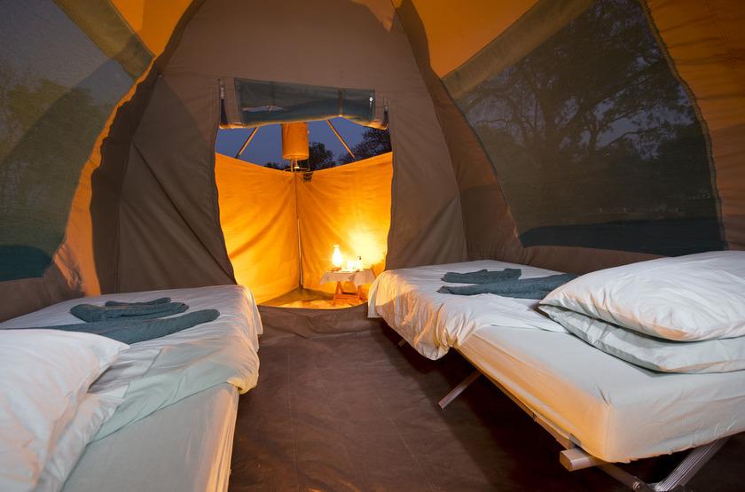Shoreline Canoeing, Mana Pools, Zimbabwe, intérieur tente
