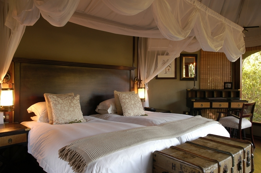 Hamiltons Tented Camp, Mluwati, Afrique du Sud, chambre
