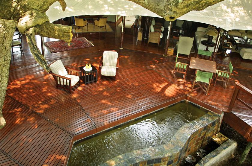 Hamiltons Tented Camp, Mluwati, Afrique du Sud, terrasse