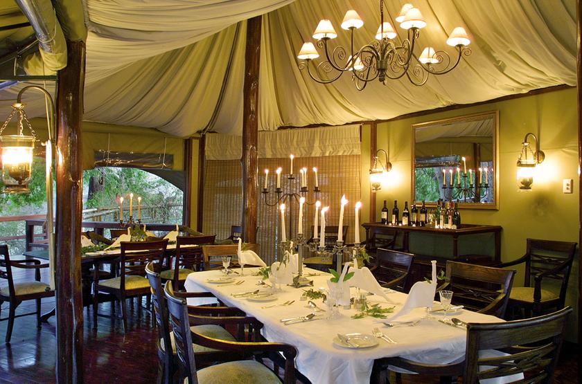 Hamiltons Tented Camp, Mluwati, Afrique du Sud, restaurant