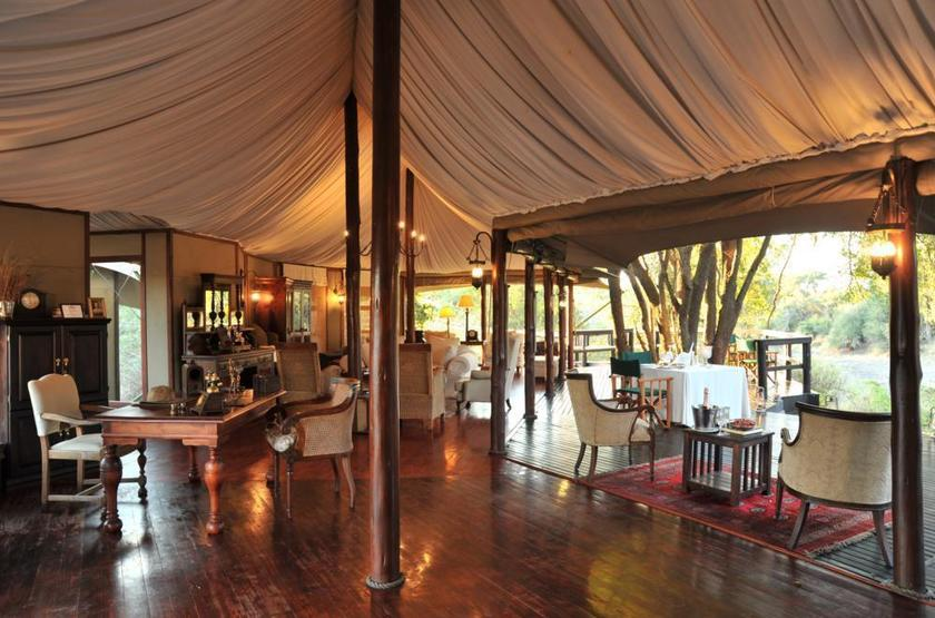 Hamiltons Tented Camp, Mluwati, Afrique du Sud, salon
