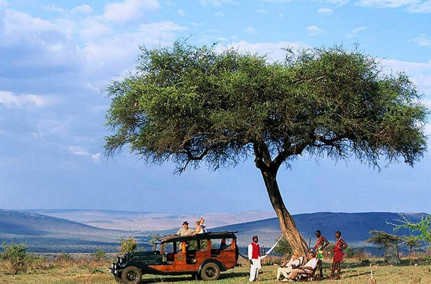 Cottar's 1920, Sud Masai Mara, Kenya, apéritif en brousse
