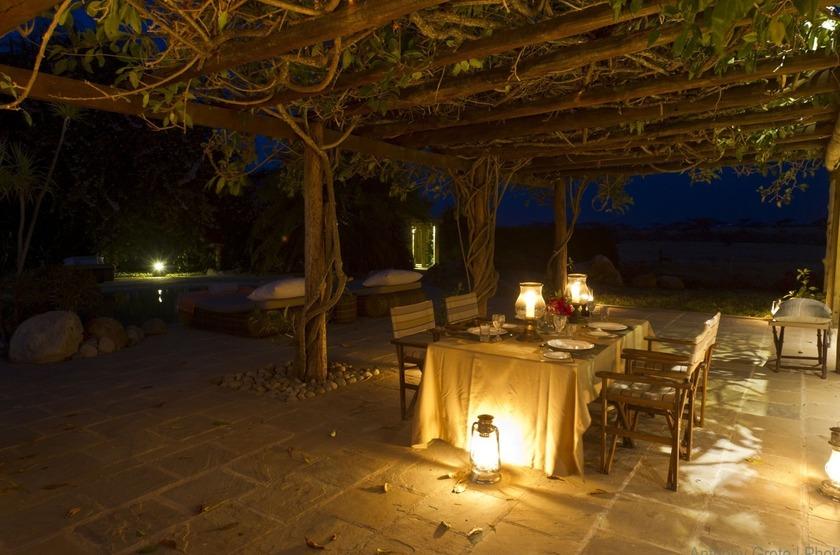 Segera Retreat, Laikipia, Kenya, dîner romantique
