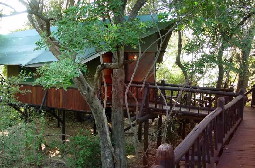 Siankaba Lodge Island, Zambie, tente