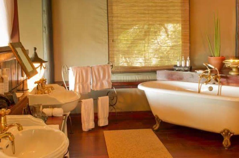 Siankaba Lodge Island, Zambie, salle de bain