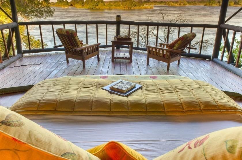 Siankaba Lodge Island, Zambie, terrasse