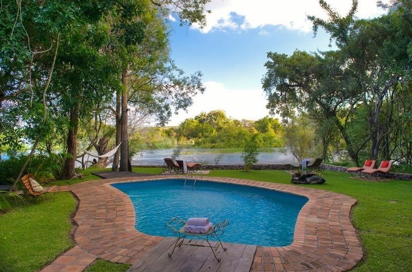 Siankaba Lodge Island, Zambie, piscine