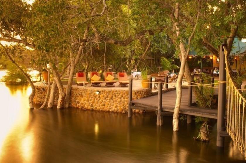Siankaba Lodge Island, Zambie, extérieur