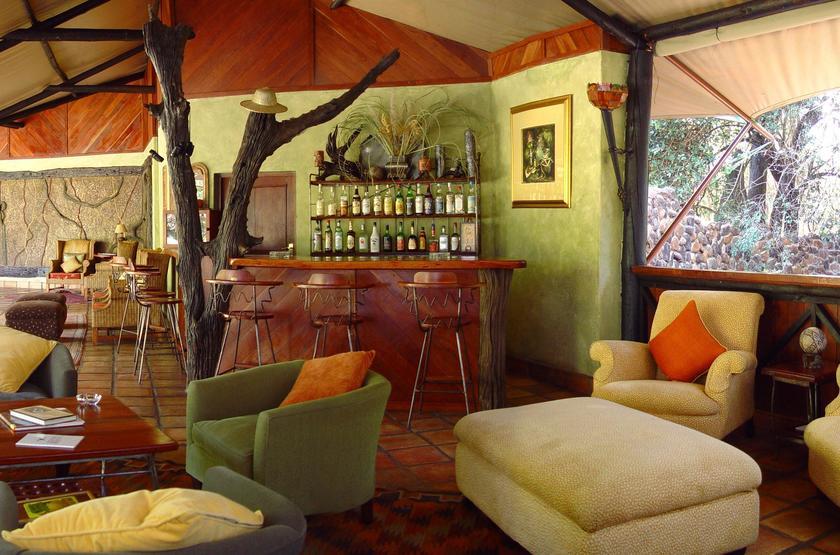 Siankaba Lodge Island, Zambie, lounge