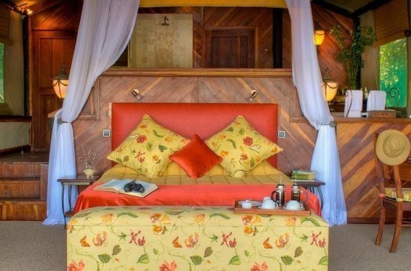 Siankaba Lodge Island, Zambie, chambre