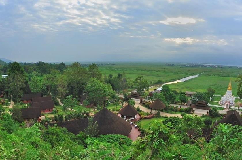 Pristine Lotus Resort, Lac Inle, Birmanie, vue de la terrasse