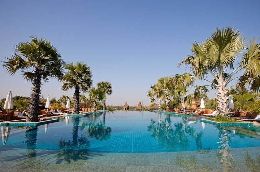 Aureum palace hotel   bagan   piscine slideshow